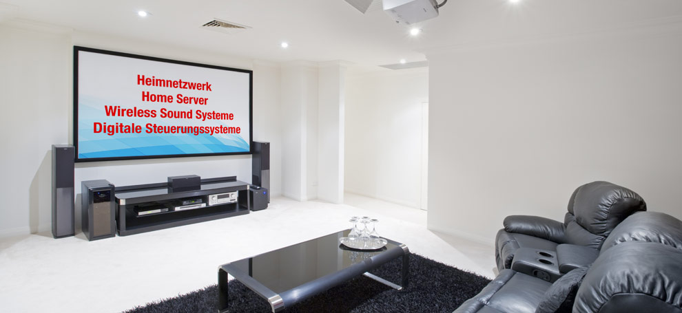 Smart Home, Digitales Wohnzimmer, Wireles Sound System, Steuerungssysteme